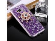Fevelove for Samsung Galaxy S8+ / G9550 Scattered Platinum Pattern Rudder Wheel Shape Fidget Hand Spinner TPU Protective Back Cover Case (Purple)