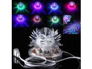 Auto Rotating 48 LED RGB Crystal  Lotus Projector Stage Effect Lighting For Disco Club 9SIA6RP6PZ9986