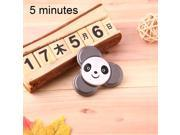 Panda Pattern Fidget Spinner Toy Stress Reducer Anti-Anxiety Toy for Children and Adults, 5 Minutes above Rotation Time, Small Steel Beads Bearing + Aluminum Al