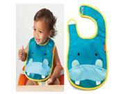 ilovebaby Cute Cartoon Animal Zoo Infant Baby Boy Girl Dribble Feeding Teething Bib Hippo
