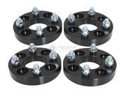 "4pc 25mm (1"") 4x100 to 4x114.3 Black Wheel Spacers Adapters - Honda Civic Acura Integra Mazda Miata"