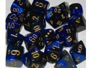 D10 Black & Blue w/Gold (10) MINT/New