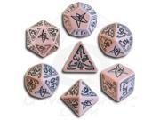 Poly Set Pink w/Black (7) MINT/New