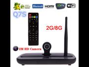 Q7S smart tv box Player Android 4.4 Quad Core 2G/8GB 2MP Camera Mic XBMC DLNA Miracast Bluetooth Set Top Box 9SIA6SY3T76959