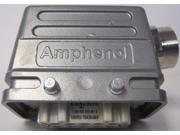 """Amphenol C14610B 10-Pin Female Connector with 1/2"""" Side Entry Hood Housing"""