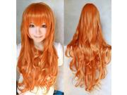 ZNUONLINE Fashion Long Full Head Curly Wavy Hair Wig Multic-colors 80cm Heat Wigs Resistant for Women Ladies Girls Cosplay Party Costume Carnival Halloween Apri 9SIA6TF2987524