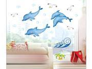 ZNUONLINE Dolphin Cartoon Removable Wall decals Home Room Bedroom Kids Nursery Room Decor Wall Art Stickers Decals 9SIA6TF2EP7629