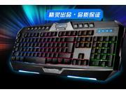 7 Color LED Backlight Backlit Luminous USB Illuminated Game Gaming Keyboard 9SIV0EU4SM6574