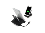 Dual USB Sync Battery Dock Base Charger Holder Fr Samsung Galaxy Note 2 II N7100 (White/black)