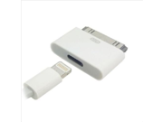 8 Pin Female iPhone 5S 5 to 30 Pin Male Adapter for iPhone 4S 4 iPad 2 3 Charger iPhone 5 to iPhone 4 Cable Adapter(white)