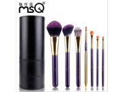 MSQ® 7 pcs Cosmetics Violet Professional Makeup Brush Sets  Kit Makeup Tool with Cup  Holder (Purple ) 9SIAAZM45N9682