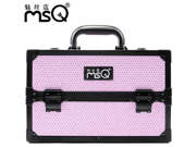 MSQ NEW Professional  Multi-storey Cosmetic Makeup Artist Portable Aluminum  Carrying Case Lockable(pink) 9SIAAZM45N9855