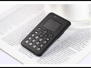 AiEK V8, 6.5mm Ultra Thin Fashionable Mini Mobile business Card Phone, Micro SIM Student Version Credit Card Size Mobile Phone with Fm Radio Bluetooth Etc. 9SIV0EU4SM4359