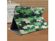 Army camouflage pattern Apple Ipad air1/2 Flip Case Stand Smart Magnetic Cover Premium Deluxe Pu Leather HD Template Luxury Protector sleeve for ipad air1 and ipad air2
