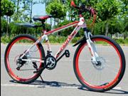 "Genesis PF980 Men's Mountain Bike Blue Aluminum Frame Bicycle Shimano 26"" Full Suspension"