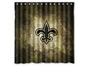 New Orleans Saints 02 NFL Design Polyester Fabric Bath Shower Curtain 180x180 cm Waterproof and Mildewproof Shower Curtains Pattern01