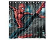 Spiderman Design Polyester Fabric Bath Shower Curtain 180x180 cm Waterproof and Mildewproof Shower Curtains 9SIA6U55H46767