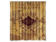 Harry Potter Map Design 66x72 Inch Bath Shower Curtains