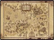Wizarding World Map Harry Potter Style 150*200cm Flannel Fleece Blanket One Side Print Throw Blanket