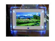 "7"" Light Flashing TFT-LCD Digital Photo Movies Frame MP3 4 Player Alarm Clock"
