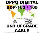 New OPPO DIGITAL BDP-103 BDP-105 DARBEE REGION FREE USB HARDWARE UPGRADE CABLE KIT 9SIV0DT3298379