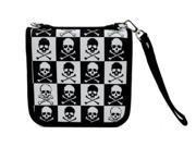 New Skull and Crossbones CD / DVD / Disc Holder Wallet Case Holds 24 Discs Punk Rock 9SIV0DT32A0275