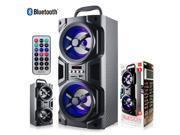 """""""E-buy World"""" NEW Sentry Bluetooth Black Party Speaker & Radio LED Mood Light With Remote"""