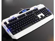 """E-buy World"" White LED Backlight Backlit USB Wired Illuminated Game Gaming Keyboard for PC"
