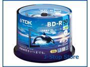 50 TDK Bluray Disc Inkjet Printable Blu ray 25gb 4x Speed BD-R Media 9SIADRW5TD8871