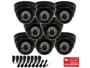 VideoSecu 8 Pack 3.6mm Wide Angle Lens Security Camera Outdoor Indoor Weatherproof IR Day Night Vision 28 LEDs Built in 1 3 SONY Effio CCD 600TVL with 8 Power