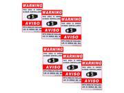 """VideoSecu 6 Security Camera Video Warning Sticker Sign Decal 11.5x8.3"""""""" for Home CCTV DVR Video Surveillance Camera System CO7"""" 9SIV0T646U2204"""