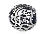Babao Jewelry Hollow Leaves Soild Authentic 925 Sterling Silver Bead Fits Pandora Style European Charm Bracelets