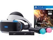 Sony PlayStation VR Valkyrie Starter Bundle 4 items VR Headset Move Controller PlayStation Camera Motion Sensor PSVR EVE Valkyrie