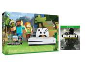 Xbox one S Console Bundle 2 items: Xbox One S 500GB Console-Minecraft bundle,Call of Duty:Infinite Warfare Game Disc 9SIA6V655P6042