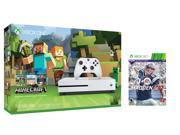 Xbox one S Console Bundle 2 items: Xbox One S 500GB Console - Minecraft Bundle, Madden NFL 17 Game Disc 9SIV08N55E0157