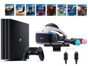 PlayStation VR Deluxe Bundle 12 Items VR Start Bundle PS4 Pro 1TB 8 VR Game Disc Rush of Blood Valkyrie Battlezone Batman DriveClub Eagle RIGS Resident Evil 7