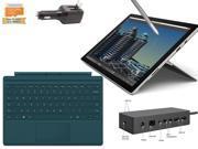 "Microsoft Surface Pro 4 Core i5-6300U 8GB 256GB 12.3"" touch screen w/ 2736x1824 3K 3:2 QHD Windows 10 Pro (Teal Cover, Dock Bundle)"
