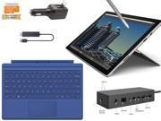 "Microsoft Surface Pro 4 Core i5-6300U 8GB 256GB 12.3"" touch screen w/ 2736x1824 3K 3:2 QHD Windows 10 Pro (Blue Cover, Dock, Wireless Display Bundle)"