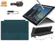 "2015 Newest Microsoft Surface Pro 4 Core i5-6300U 8GB 256GB 12.3"" touch screen w/ 2736x1824 3K 3:2 QHD Windows 10 Pro (Teal Cover, Docking Station, Wireless Display Bundle)"