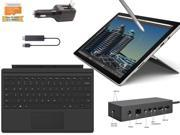 "Microsoft Surface Pro 4 Core i5-6300U 8GB 256GB 12.3"" touch screen w/ 2736x1824 3K 3:2 QHD Windows 10 Pro (Black Cover, Dock, Wireless Display Bundle)"