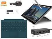 "Microsoft Surface Pro 4 Core M 4G 128GB 12.3"" touch screen w/ 2736x1824 3K 3:2 QHD Windows 10 Pro (Teal Cover, Dock, Wireless Display Bundle)"