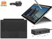 "2015 Newest Microsoft Surface Pro 4 Core i7-6600U 16GB 256GB 12.3"" touch screen w/ 2736x1824 3K 3:2 QHD Windows 10 Pro (Black Cover, Dock Bundle)"