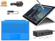 "Microsoft Surface Pro 4 Core i5-6300U 16GB 512GB 12.3"" touch screen w/ 2736x1824 3K 3:2 QHD Windows 10 Pro (Light Blue Cover, Dock, Wireless Display Bundle)"
