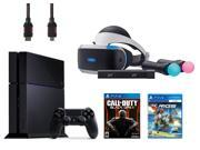 PlayStation VR Start Bundle 5 Items VR Headset Move Controller PlayStation Camera Motion Sensor PlayStation 4 Call of Duty Black Ops III VR Game Disc RIGS Mecha