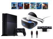 PlayStation VR Bundle 9 Items VR Headset Playstation Camera PS4 6 VR Game Disc PSVR Until Dawn Rush of Blood PSVR EVE Valkyrie PSVR Battlezone Batman Arkha