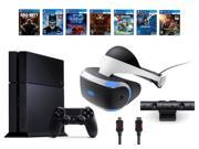 PlayStation VR Bundle 9 Items VR Headset Playstation Camera PS4 Call of Duty Black Ops III 6 VR Game Disc Until Dawn Rush of Blood EVE Valkyrie Battlezone Ba