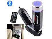 Bluetooth Wireless FM Transmitter MP3 Player Car Kit Handsfree Calling with 2A USB Charger Charging Adapter work For Apple iPhone 5 5S 6 Samsung Note 4 LG G3