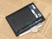 Front Pocket Wallet for Men Business Credit ID Card Holder Coin Purse Clip Genuine Leather Durable Slim Wallets