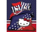 Northern Lights Children cotton series HELLO KITTY British style 4 Pieces Quilt cover & Flat sheet & Pillowcase
