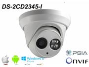 New H.265 Camera Hikvision network camera DS 2CD2345 I 4.0Mp high resolution IP66 IR mini Dome IP security camera